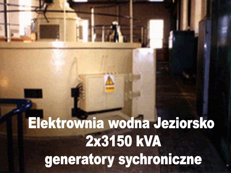 Elektrownia wodna Jeziorsko 2x3150 kVA generatory sychroniczne