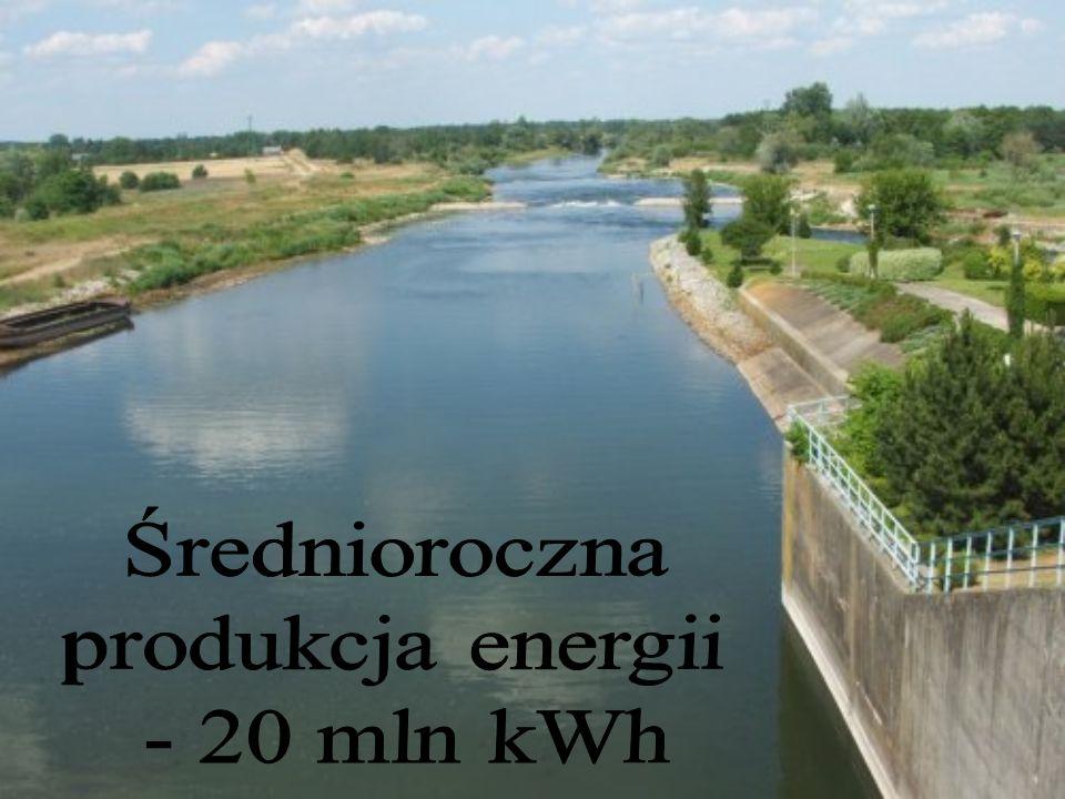 Średnioroczna produkcja energii - 20 mln kWh