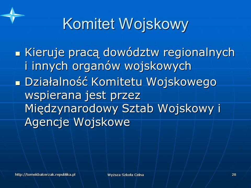 Komitet Wojskowy Kieruje pracą dowództw regionalnych i innych organów wojskowych.