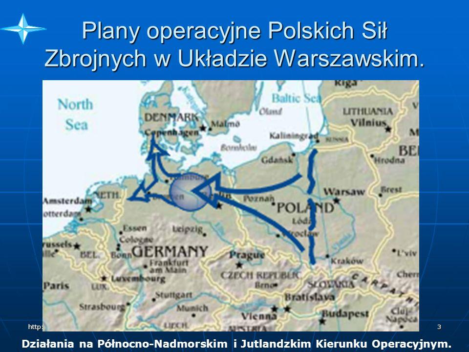 Plany operacyjne Polskich Sił Zbrojnych w Układzie Warszawskim.