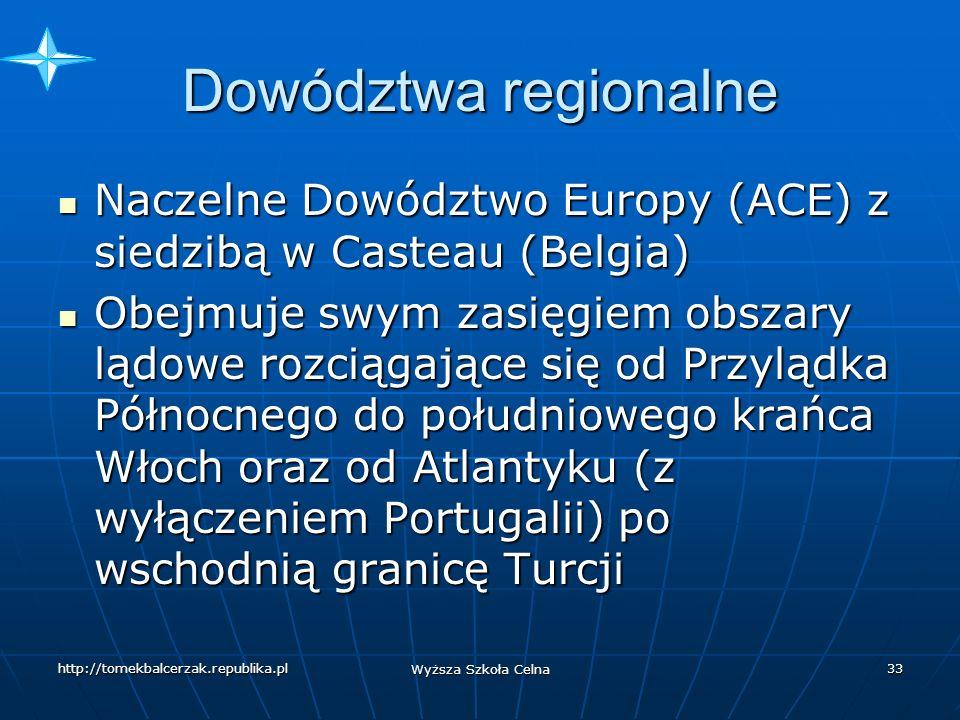 Dowództwa regionalne Naczelne Dowództwo Europy (ACE) z siedzibą w Casteau (Belgia)
