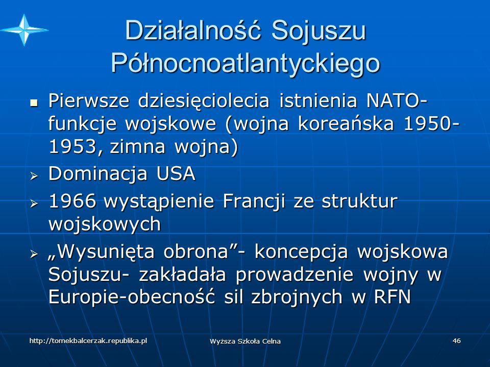 Działalność Sojuszu Północnoatlantyckiego