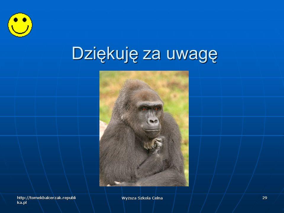 Dziękuję za uwagę http://tomekbalcerzak.republika.pl