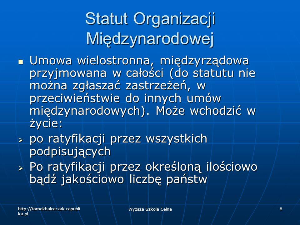 Statut Organizacji Międzynarodowej