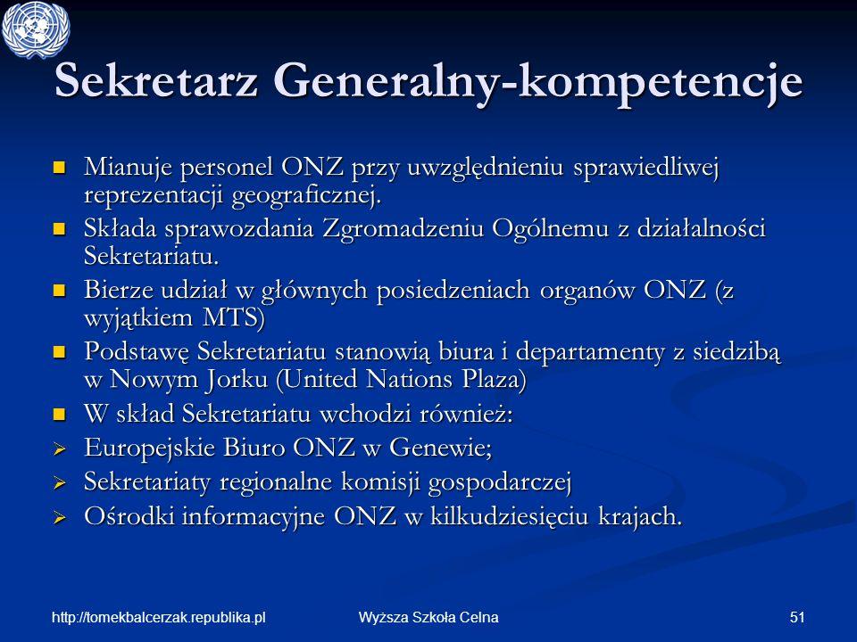 Sekretarz Generalny-kompetencje