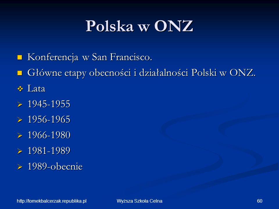 Polska w ONZ Konferencja w San Francisco.
