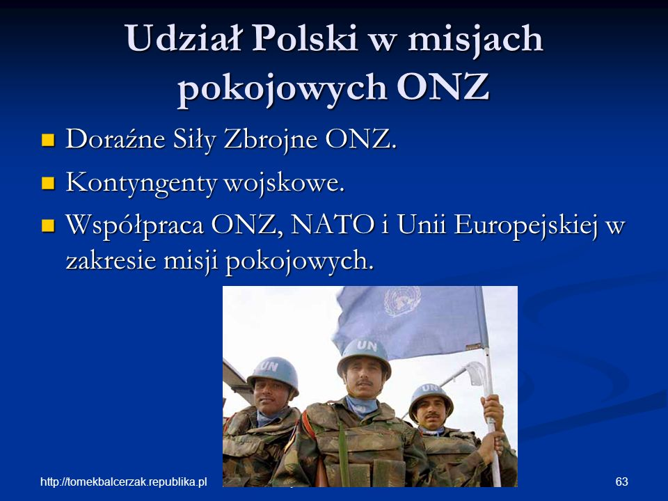 Udział Polski w misjach pokojowych ONZ