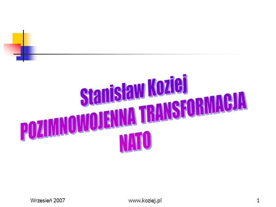 POZIMNOWOJENNA TRANSFORMACJA