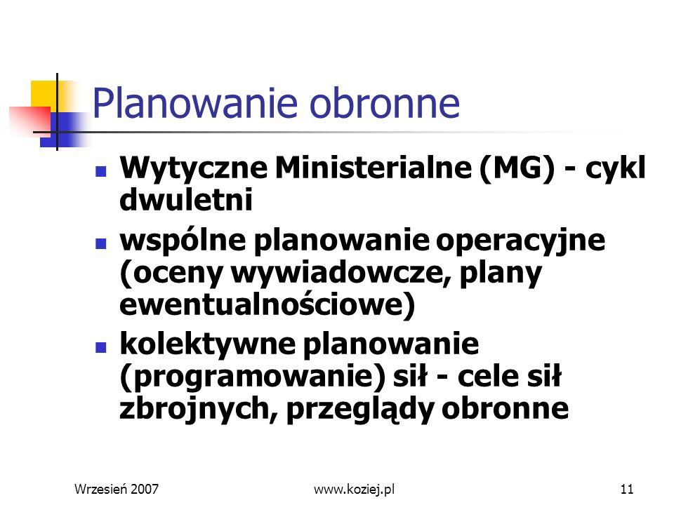 Planowanie obronne Wytyczne Ministerialne (MG) - cykl dwuletni