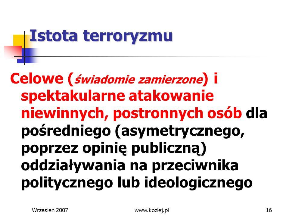 * 07/16/96. Istota terroryzmu.