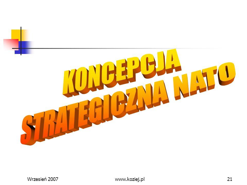 KONCEPCJA STRATEGICZNA NATO Wrzesień 2007 www.koziej.pl