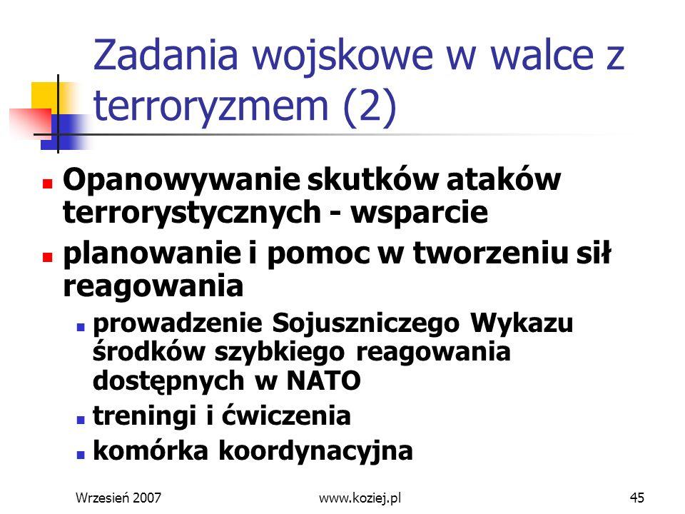 Zadania wojskowe w walce z terroryzmem (2)
