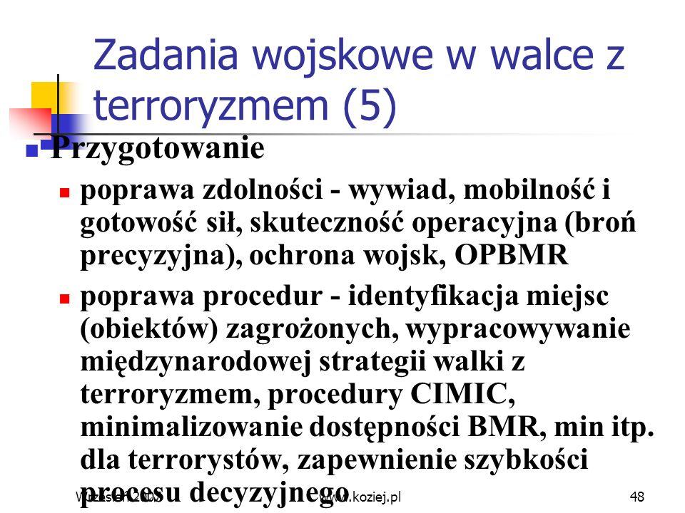 Zadania wojskowe w walce z terroryzmem (5)