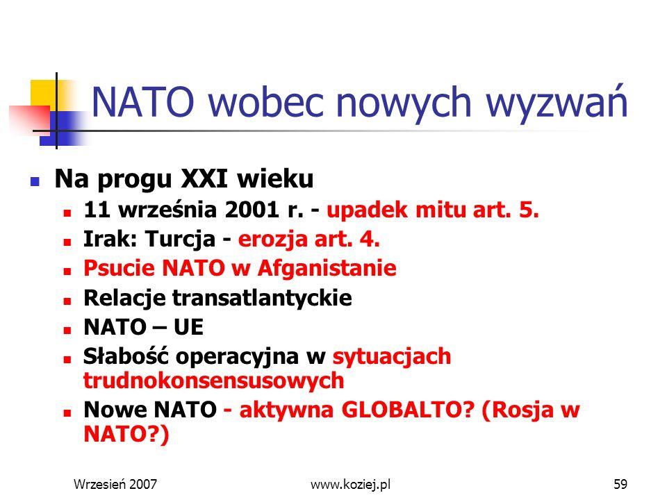 NATO wobec nowych wyzwań