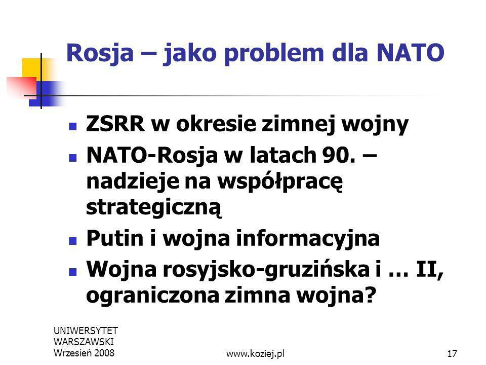 Rosja – jako problem dla NATO