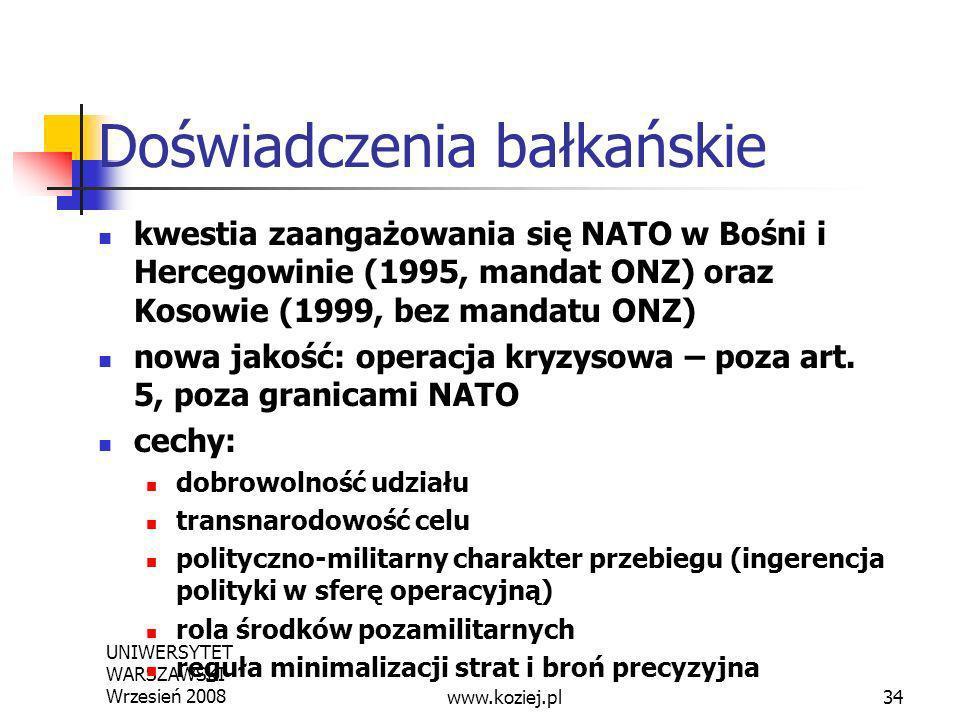 Doświadczenia bałkańskie