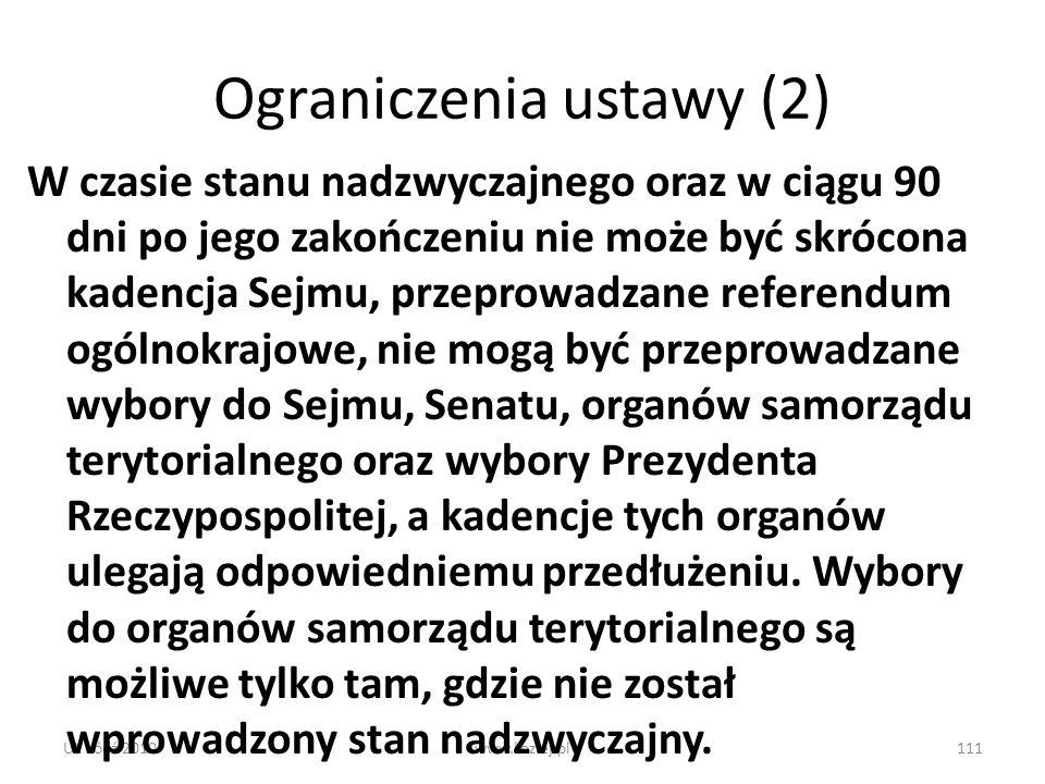 Ograniczenia ustawy (2)