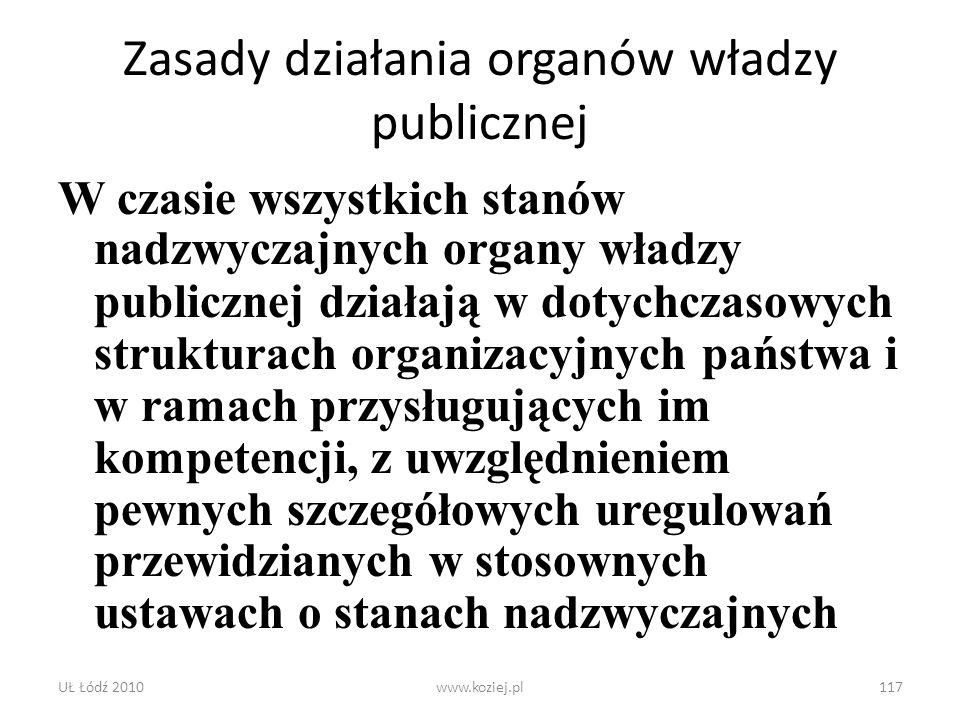 Zasady działania organów władzy publicznej