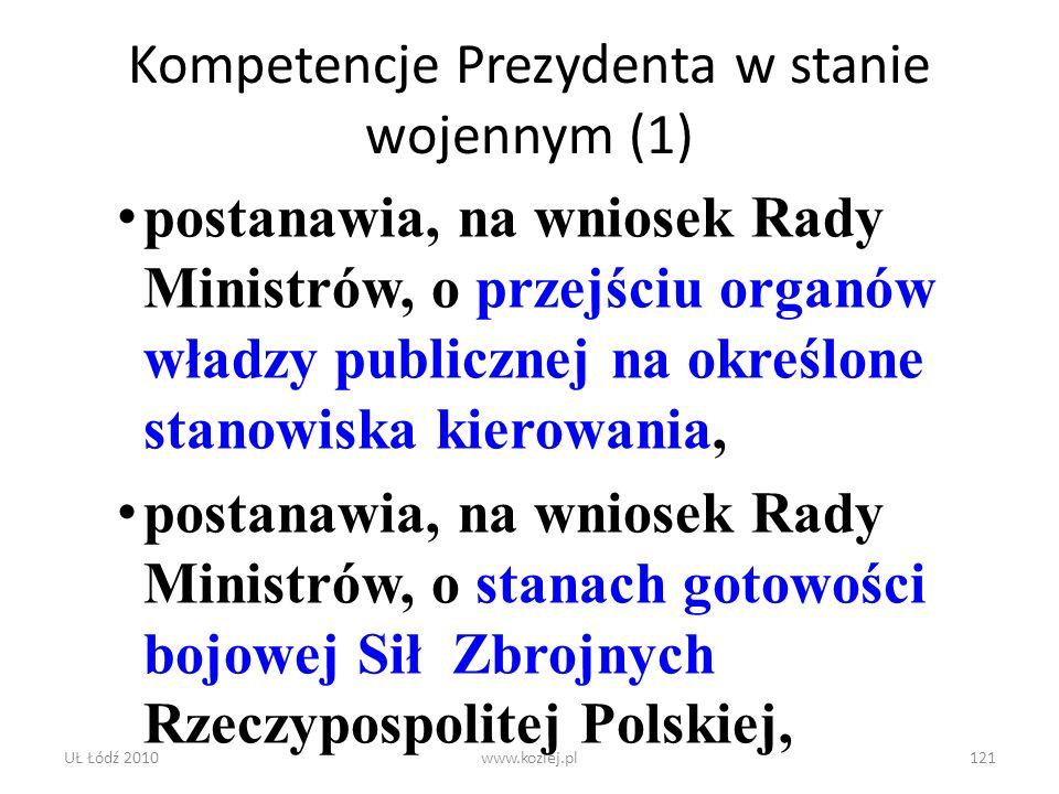 Kompetencje Prezydenta w stanie wojennym (1)