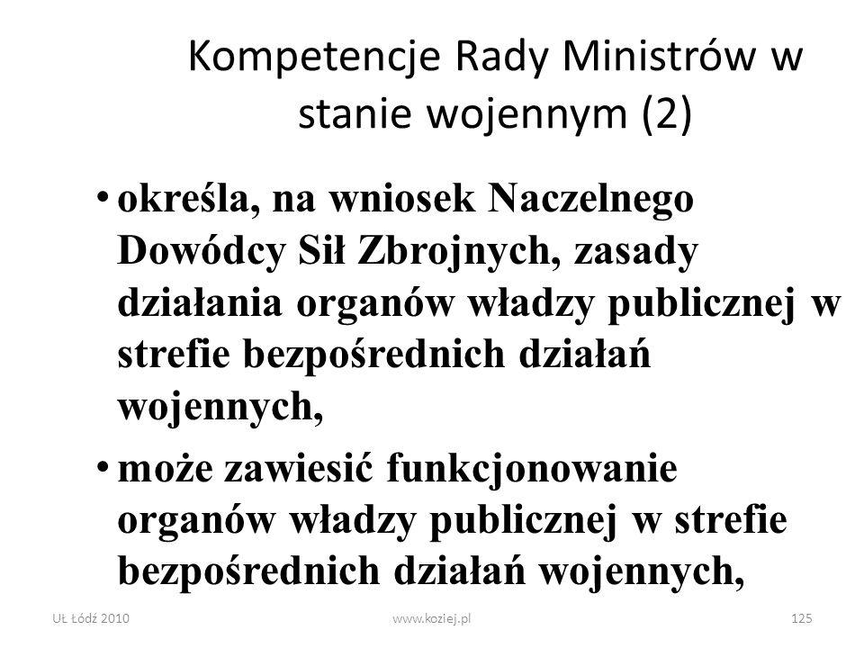 Kompetencje Rady Ministrów w stanie wojennym (2)