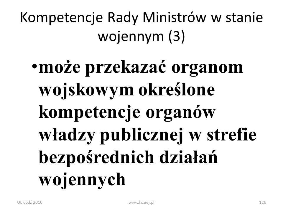 Kompetencje Rady Ministrów w stanie wojennym (3)