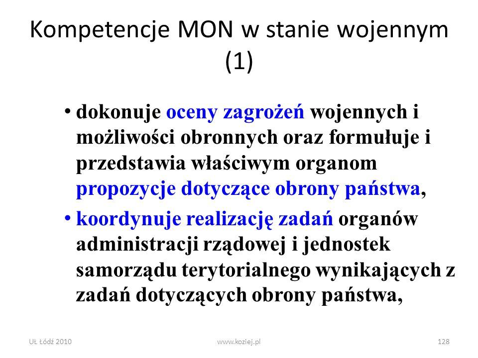 Kompetencje MON w stanie wojennym (1)