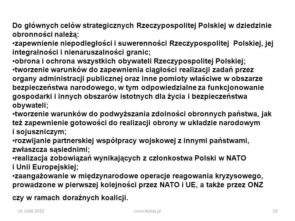 obrona i ochrona wszystkich obywateli Rzeczypospolitej Polskiej;