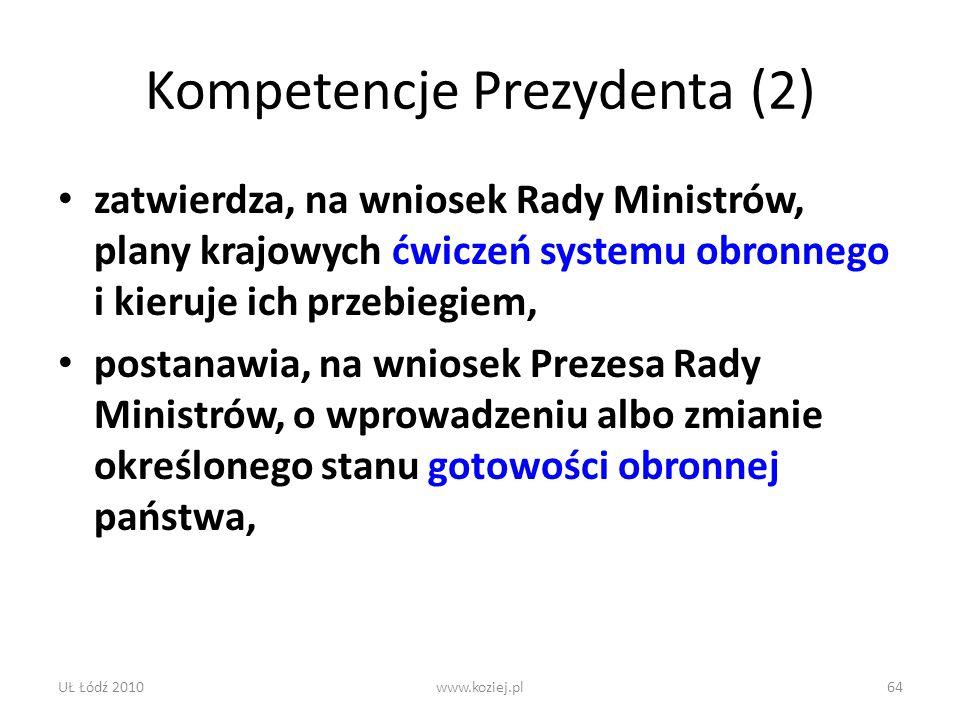 Kompetencje Prezydenta (2)