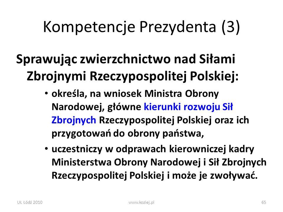 Kompetencje Prezydenta (3)