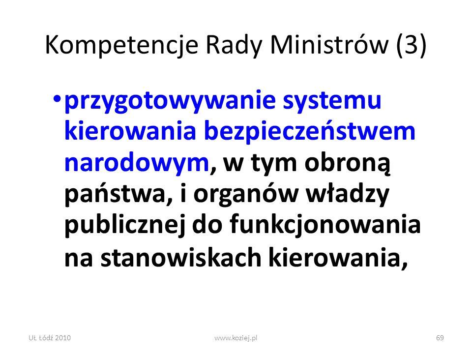 Kompetencje Rady Ministrów (3)
