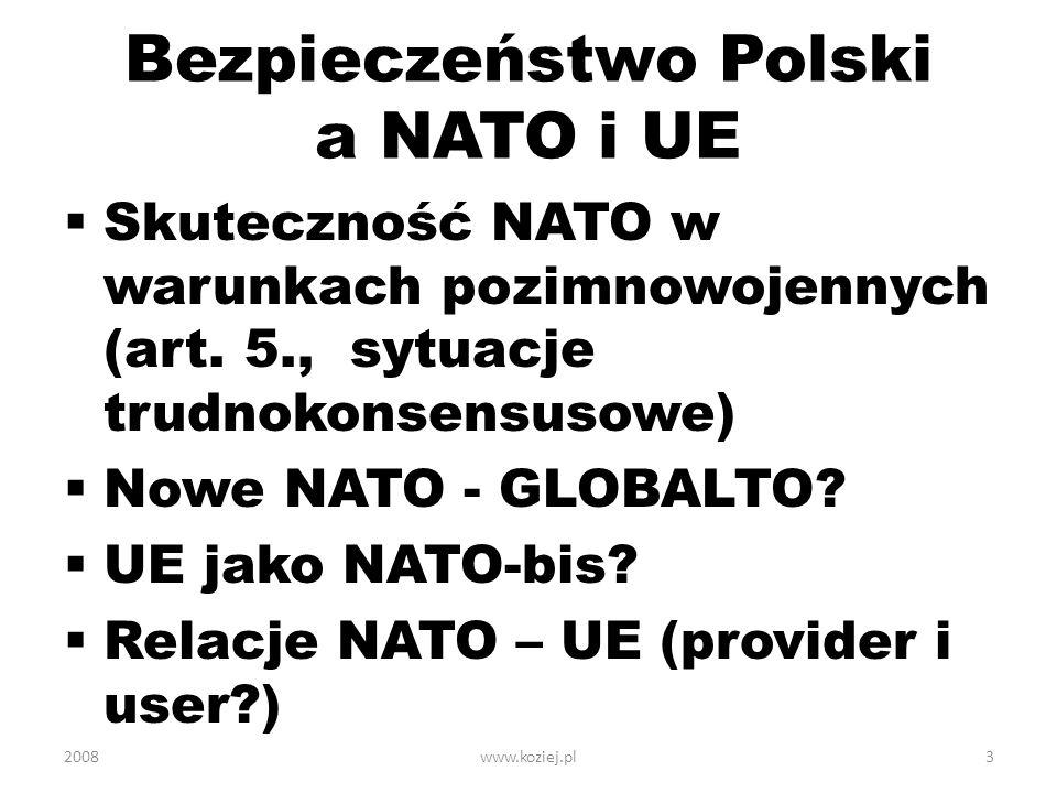 Bezpieczeństwo Polski a NATO i UE