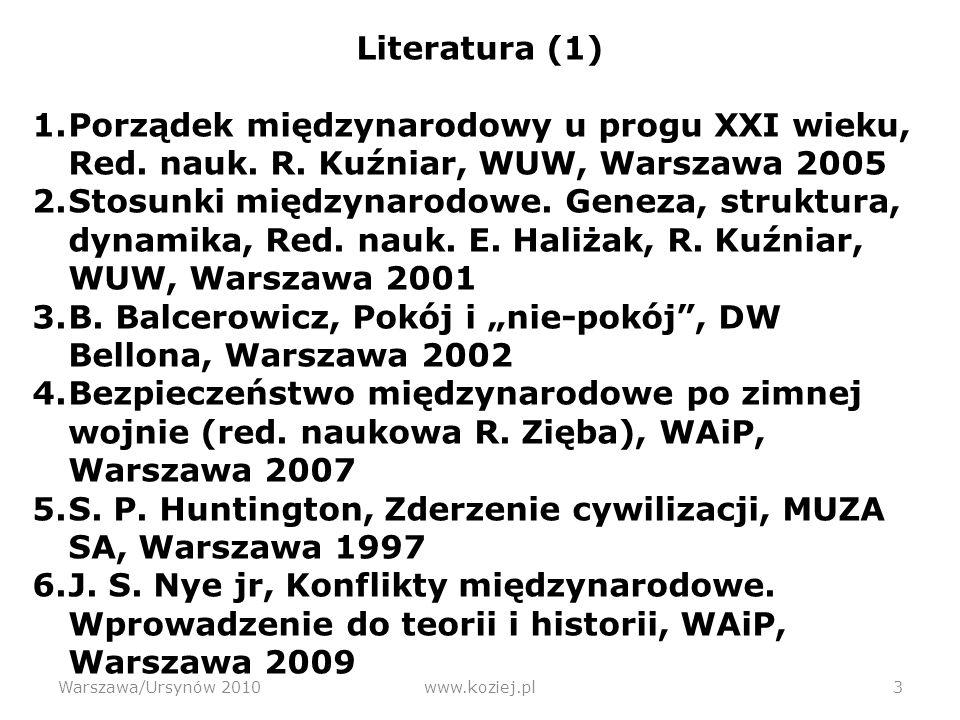 """B. Balcerowicz, Pokój i """"nie-pokój , DW Bellona, Warszawa 2002"""