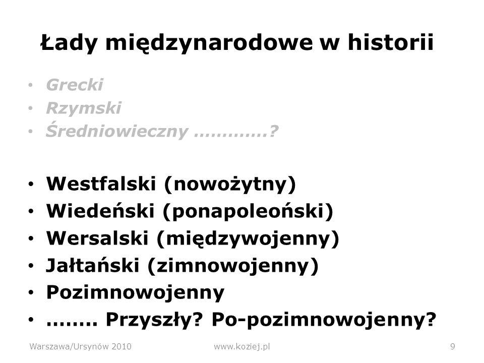 Łady międzynarodowe w historii