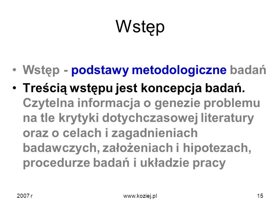 Wstęp Wstęp - podstawy metodologiczne badań