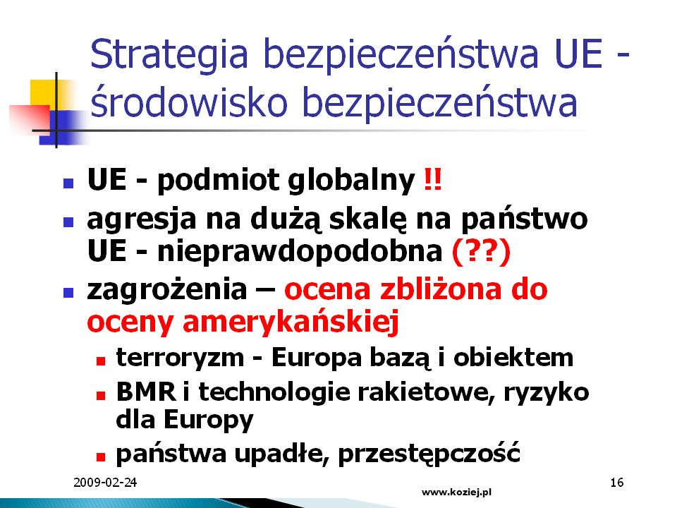 www.koziej.pl SGH 2009
