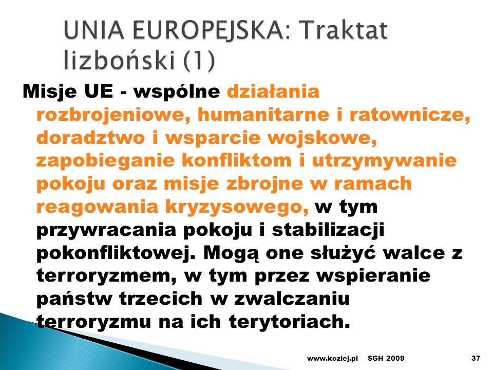 UNIA EUROPEJSKA: Traktat lizboński (1)
