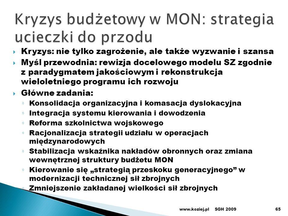 Kryzys budżetowy w MON: strategia ucieczki do przodu