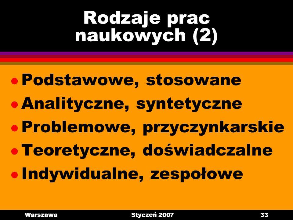 Rodzaje prac naukowych (2)