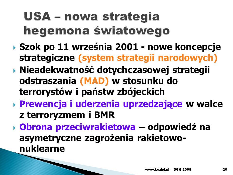 USA – nowa strategia hegemona światowego
