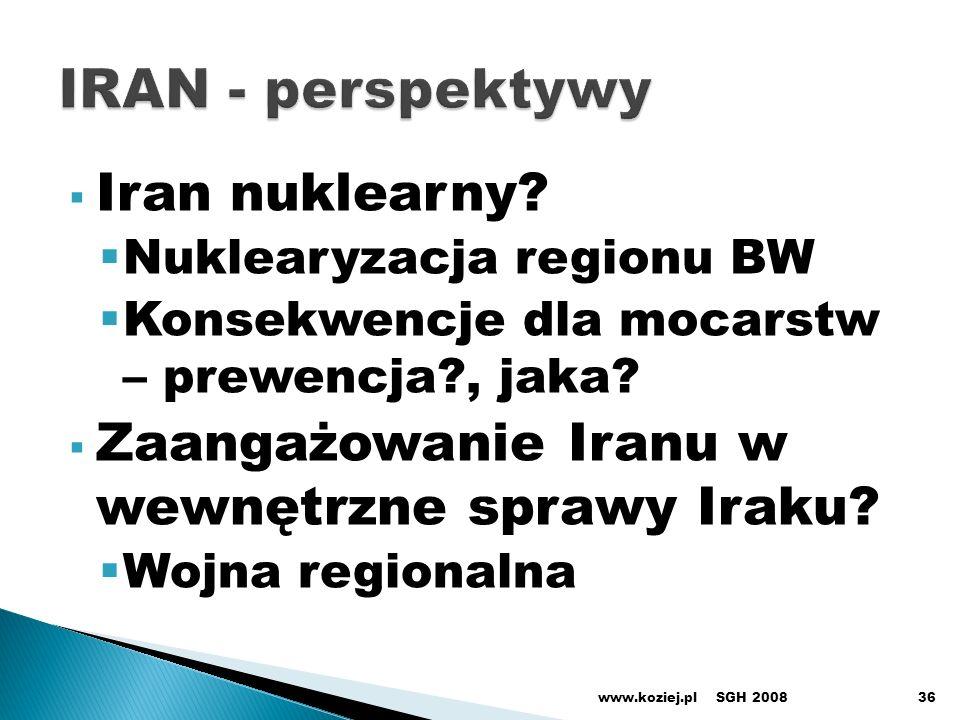 IRAN - perspektywy Iran nuklearny