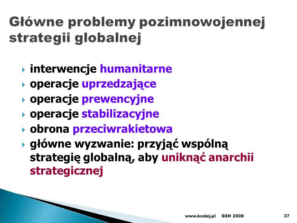 Główne problemy pozimnowojennej strategii globalnej