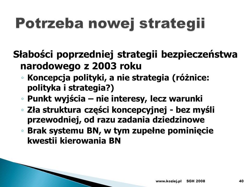 Potrzeba nowej strategii