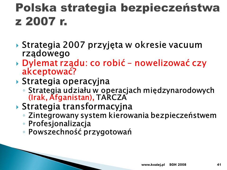 Polska strategia bezpieczeństwa z 2007 r.