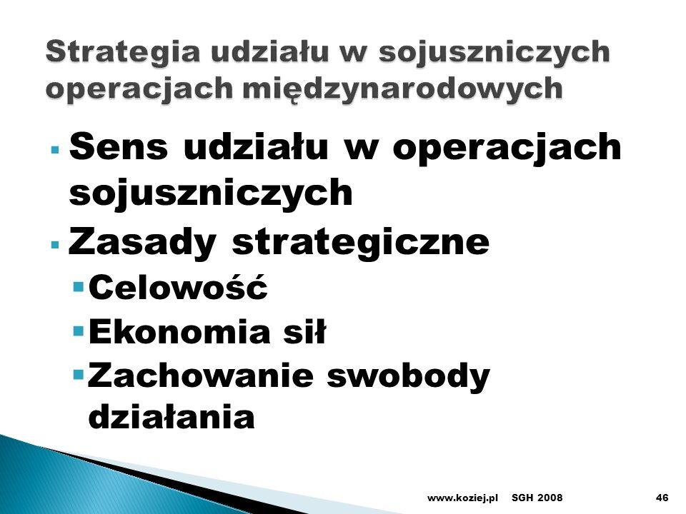 Strategia udziału w sojuszniczych operacjach międzynarodowych