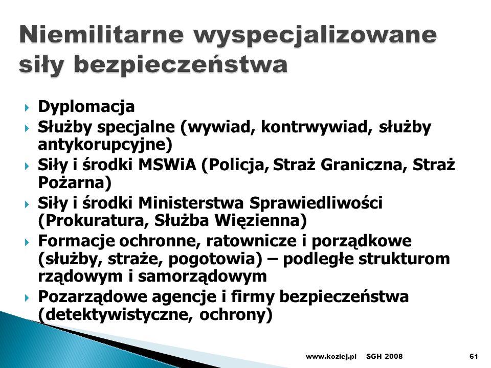 Niemilitarne wyspecjalizowane siły bezpieczeństwa