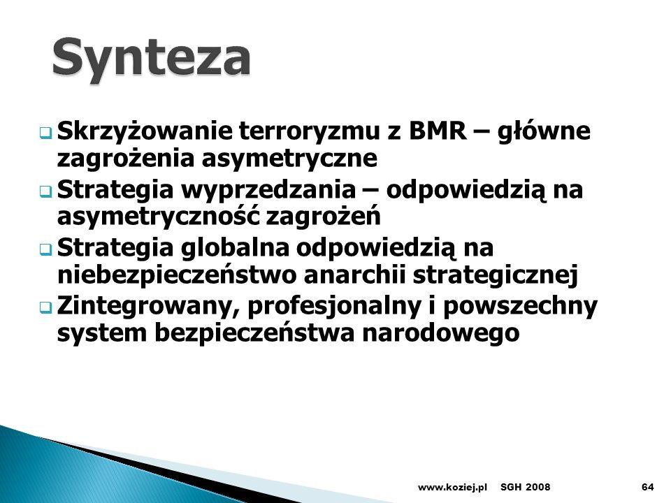 Synteza Skrzyżowanie terroryzmu z BMR – główne zagrożenia asymetryczne
