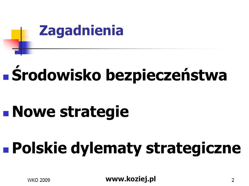 Środowisko bezpieczeństwa Nowe strategie Polskie dylematy strategiczne