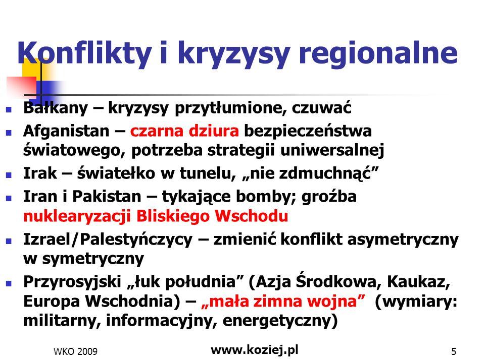 Konflikty i kryzysy regionalne