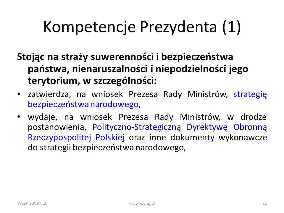 Kompetencje Prezydenta (1)