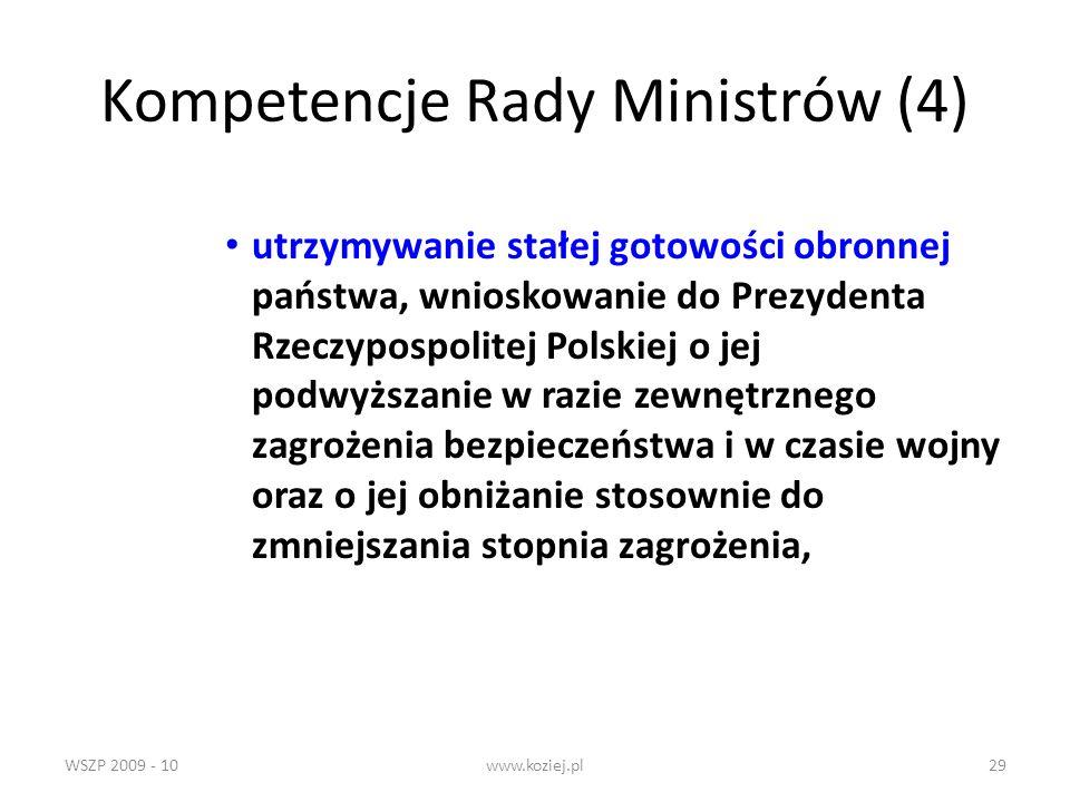 Kompetencje Rady Ministrów (4)